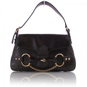 Beautiful Faux Croco Horsebit Barney's Hobo Bag